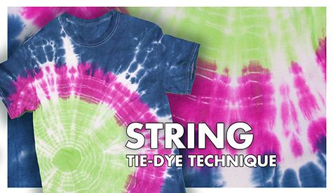 String Tie-Dye Technique Step 1