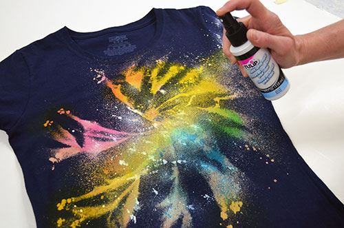 Galaxy Tie-Dye spritz on Tulip Snow planets