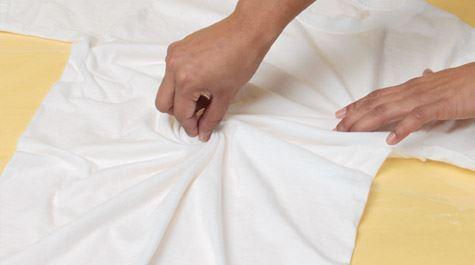 Spiral Tie-Dye Technique twist fabric