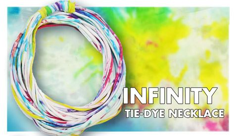Infinity Tie-Dye Necklace