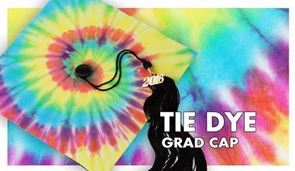 Tie-Dye Graduation Cap