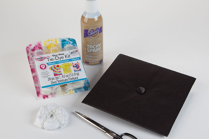 How to Tie Dye Graduation Cap supplies
