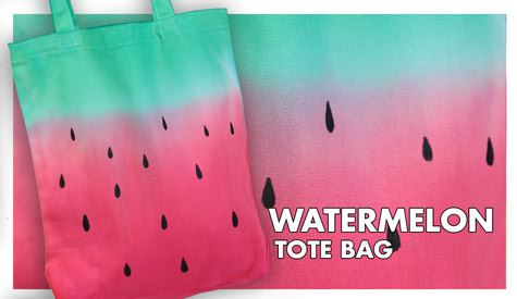 Watermelon Dip Dye Tote Technique