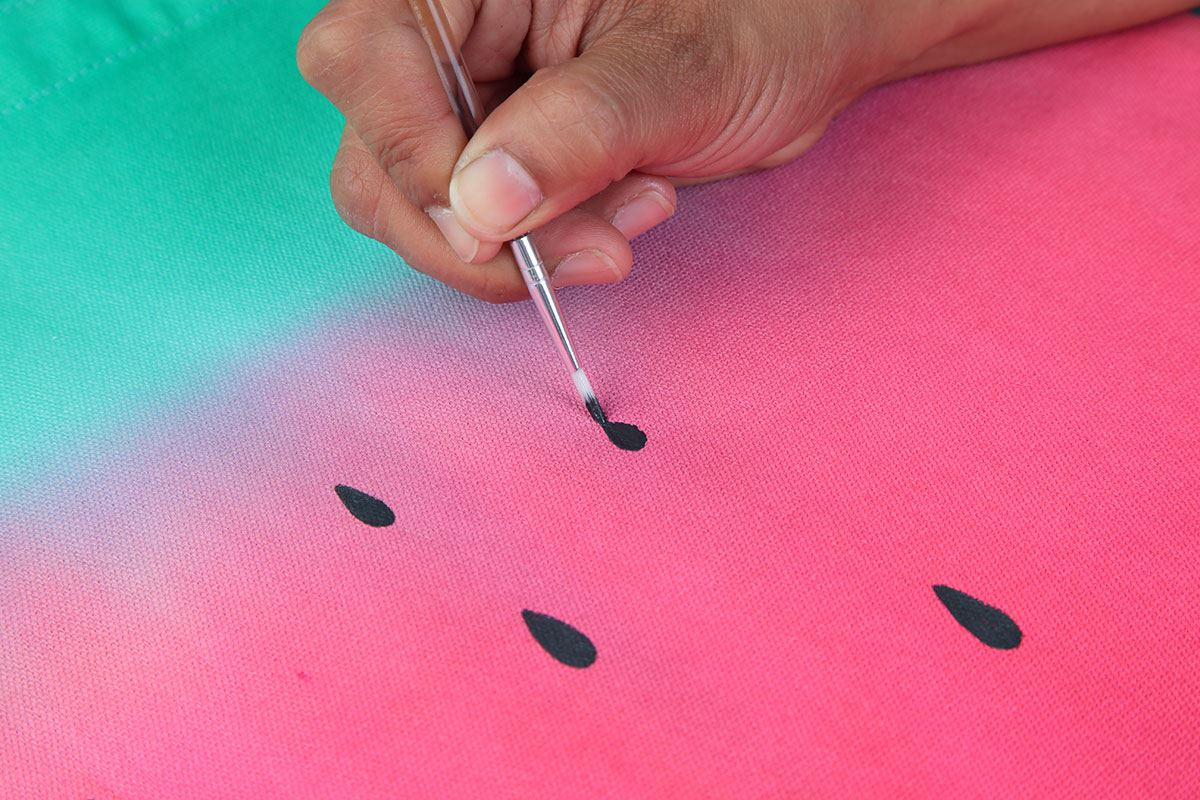 Watermelon Tie-Dye Technique paint on seeds