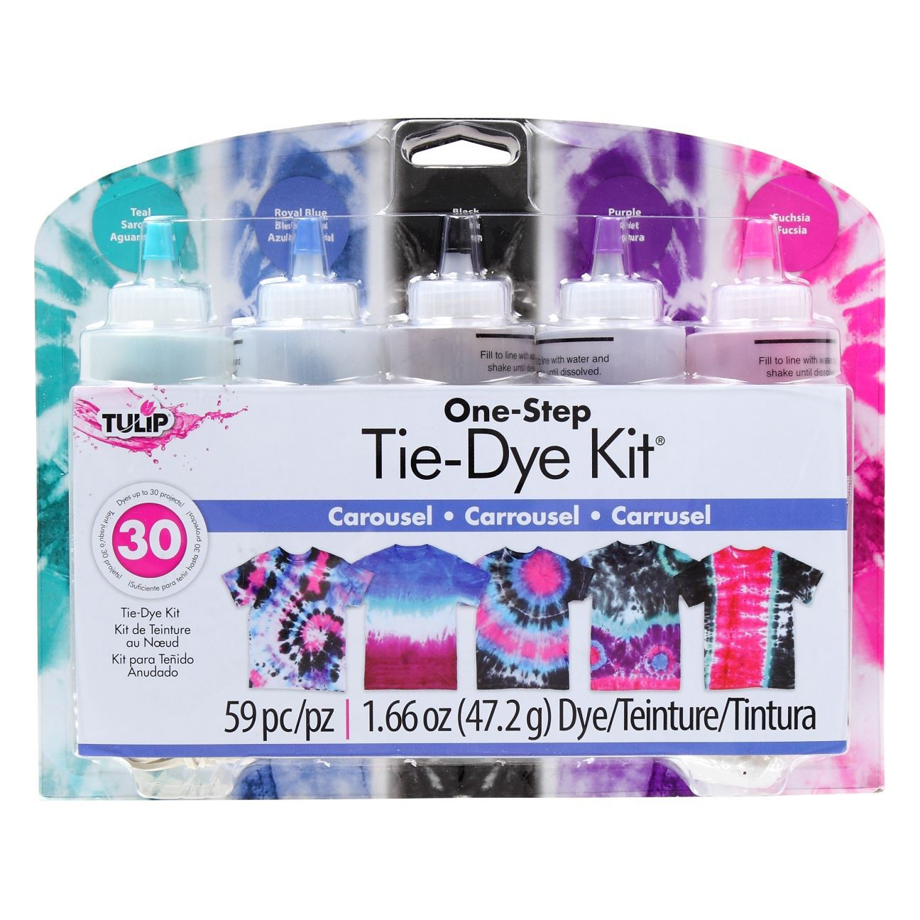 5074a1dfe4ee False Carousel 5-Color Tie-Dye Kit