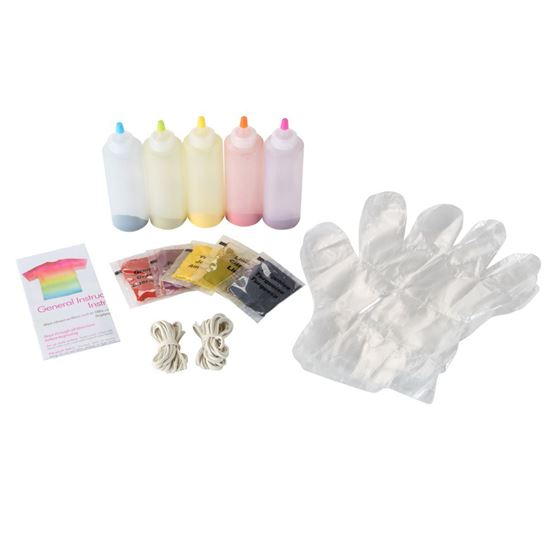 Neon 5-Color Tie-Dye Kit Content