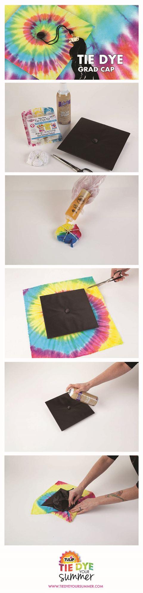 Swirl Technique Tie Dye Graduation Cap #tiedye #graduation cap #tdys #tiedyeyoursummer #tuliptiedye #TDYS