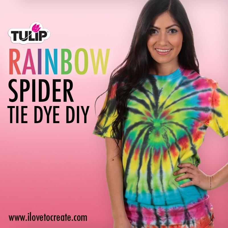 Picture of Rainbow Spider Tie Dye DIY