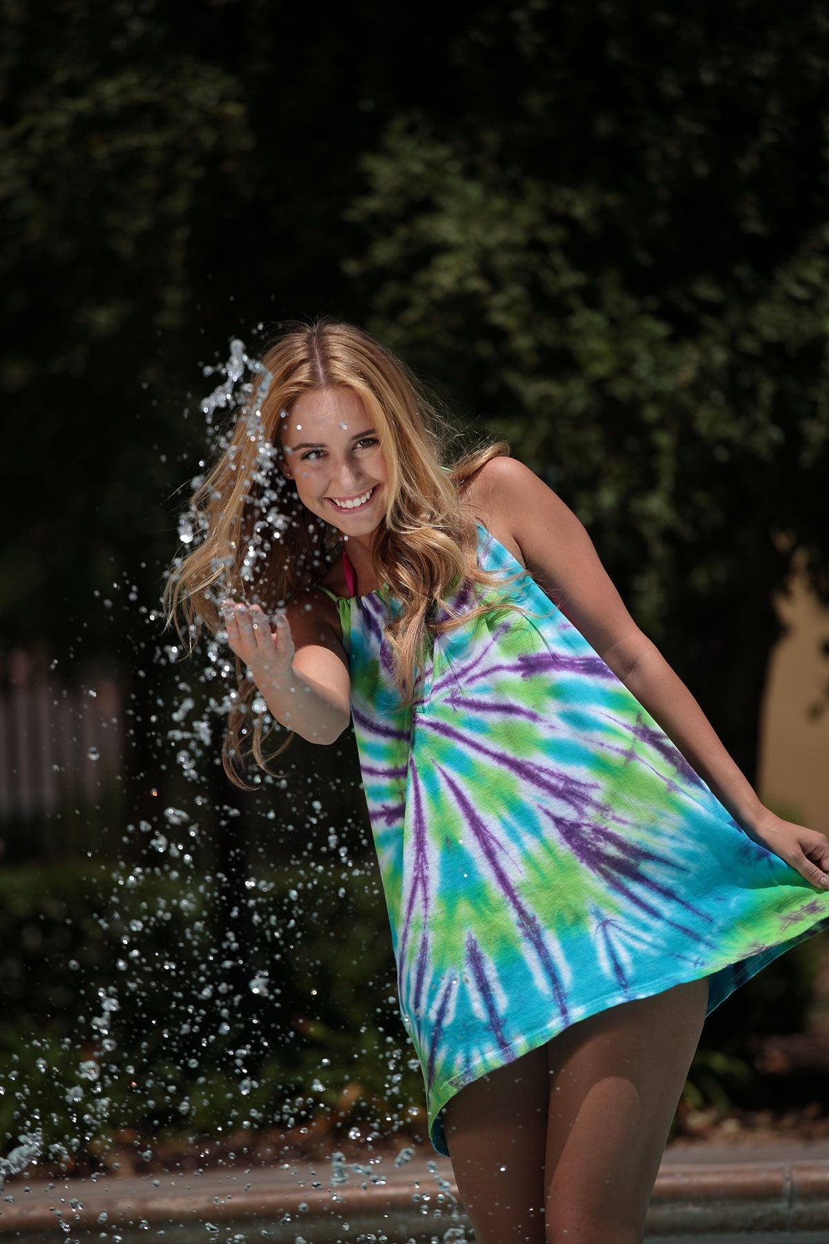 Tie Dye Your Summer No Sew T Shirt Swim Coverup