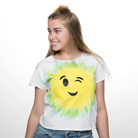 Lime and Yellow Emoji Tie Dye Shirt