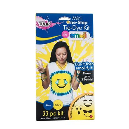 Blue and Yellow Emoji Tie Dye Kit