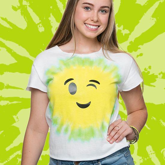 Lime Emoji Tie-Dye Tee
