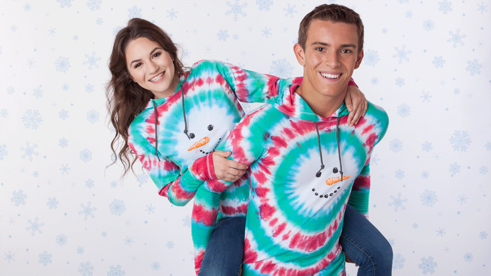 Picture of DIY Tie-Dye Snowman Ugly Sweater Hoodie