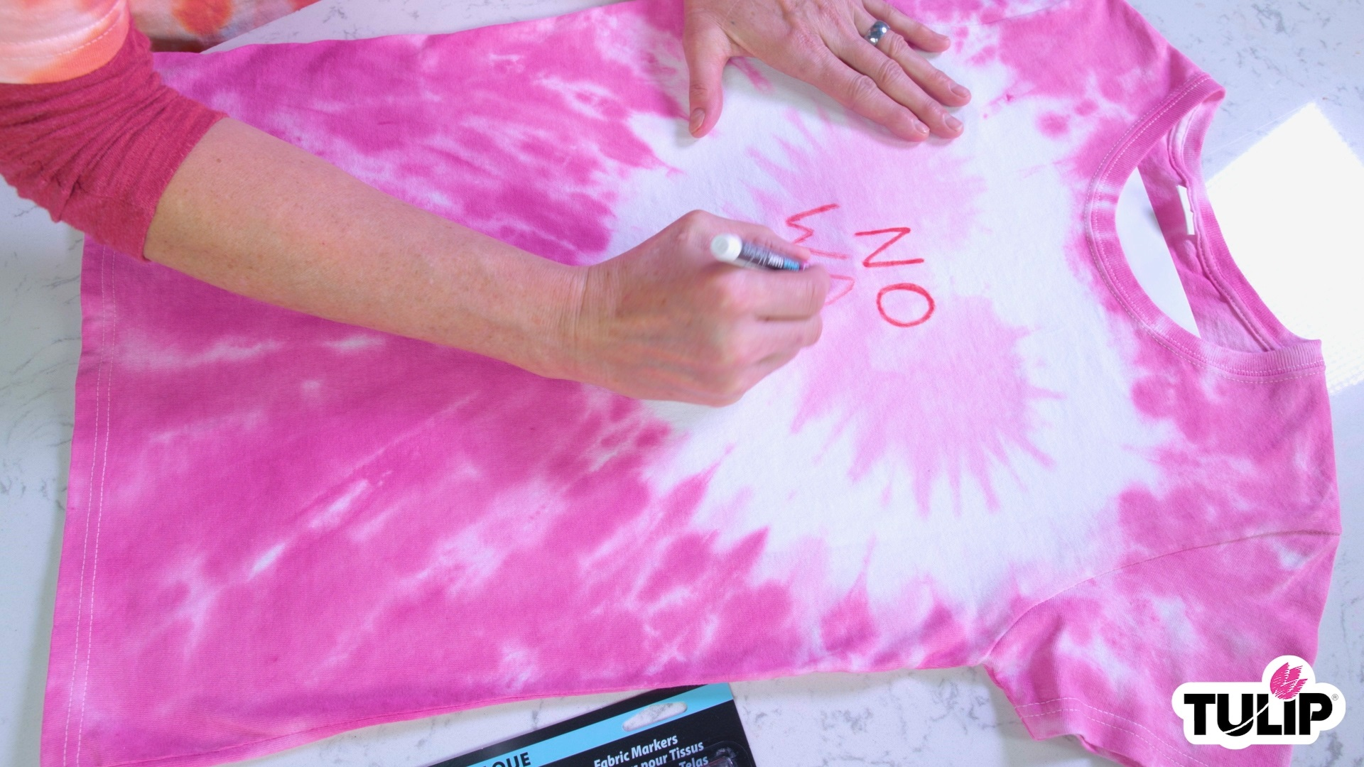 Show details for Valentine Conversation Hearts Tie Dye Shirts