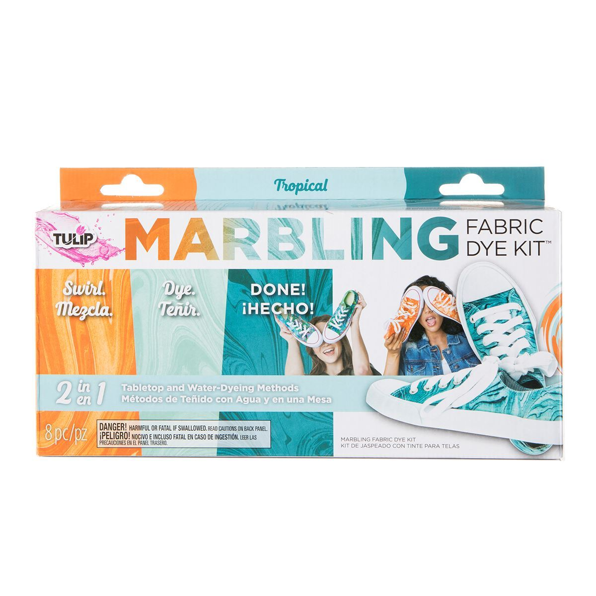 Tie Dye Your Summer | Tropical 3-color marbling dye kit