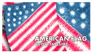 American Flag Tie-Dye Tapestry