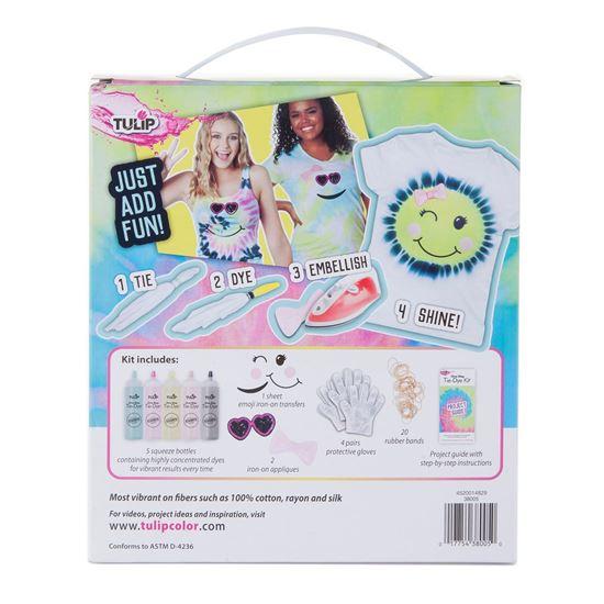 Emoji Girl Tie-Dye Kit Backside