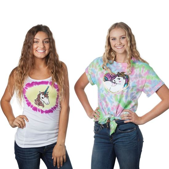 Unicorn Shimmer Tie-Dye Shirts