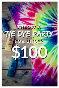 #tiedyeparty #partyideas #tiedye #partyunder$100 #tdys #tiedyeyoursummer #tuliptiedye