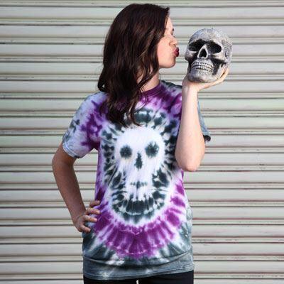 Skull Tie-Dye T-shirt