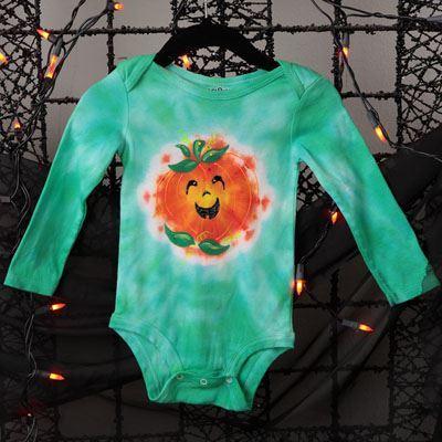 Pumpkin Tie Dye Baby Suit