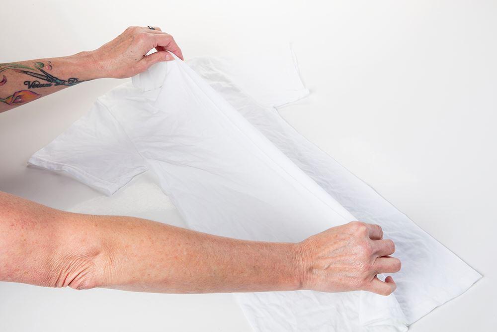 Reindeer Tie Dye Steps - fold damp shirt in half