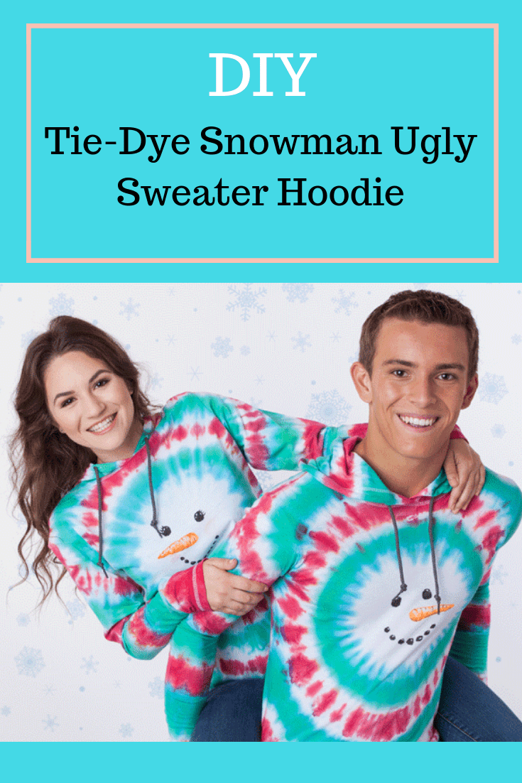 Show details for DIY Tie-Dye Snowman Ugly Sweater Hoodie