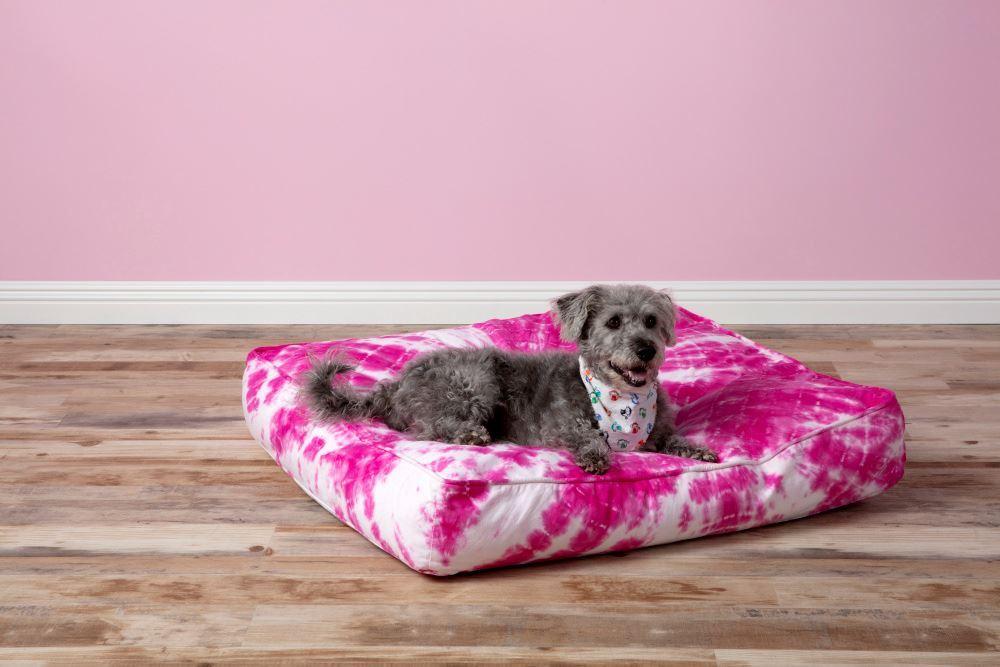 Tulip Tie Dye Shibori Bullseye Dog Bed