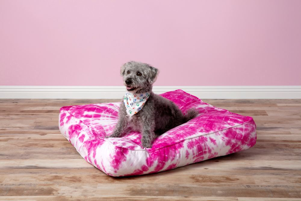 Tulip Bullseye Tie Dye Dog Bed