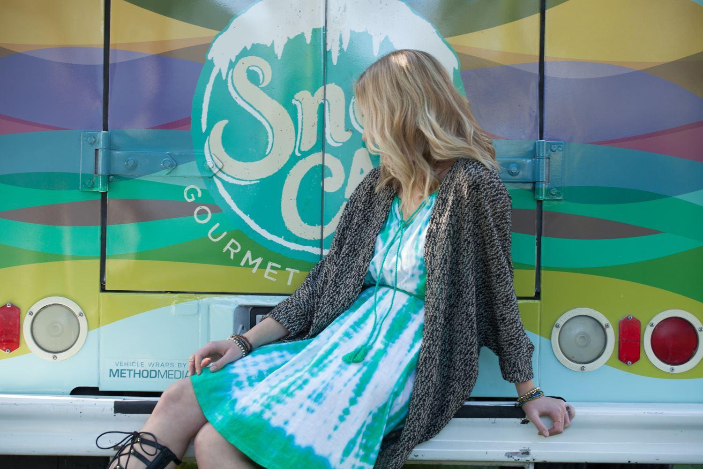 Shibori Pastel Tie Dye Dress