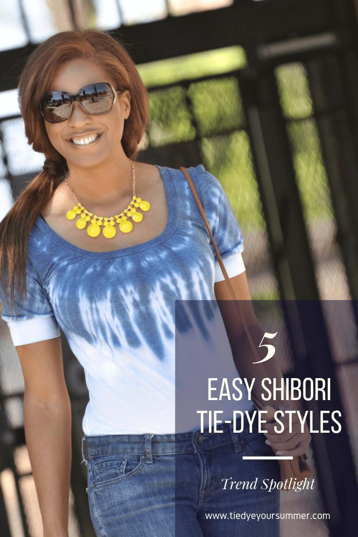 5 Easy Shibori Tie Dye Styles