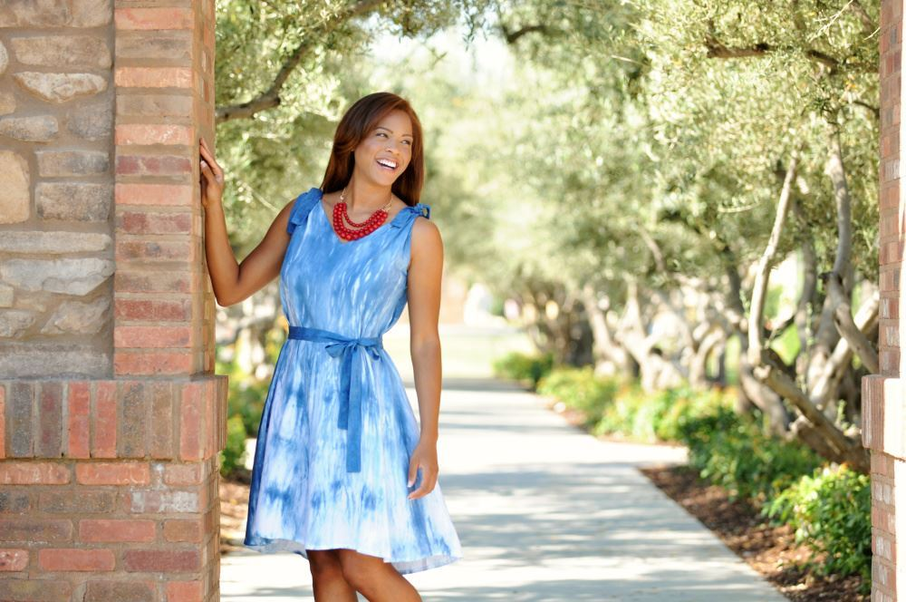 Shibori Tie-Dye Dress