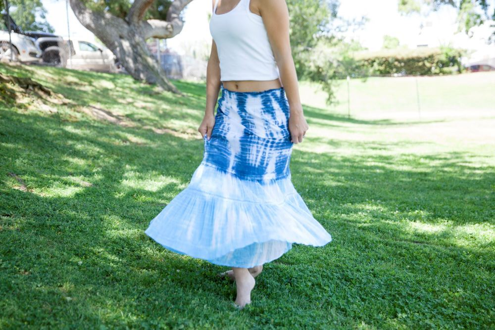Shibori Tie-Dye Skirt