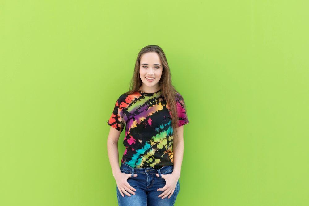 Rainbow Reverse Tie-Dye T-shirt