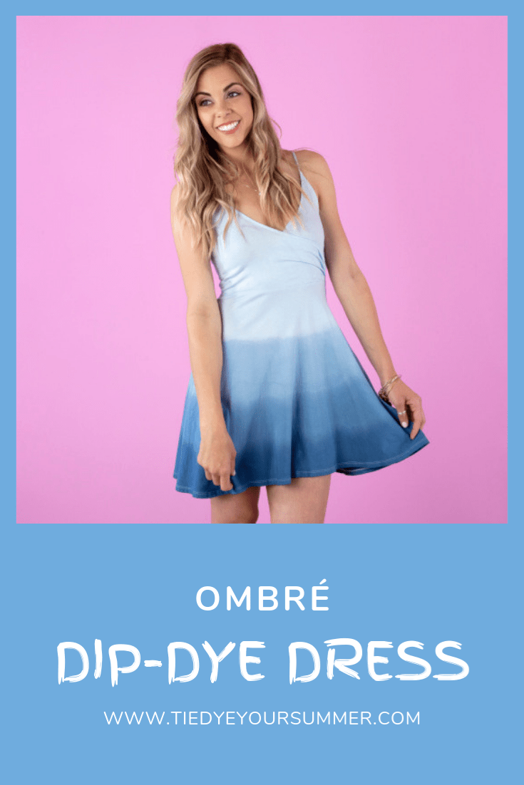 Tulip Ombre Dip Dye Dress