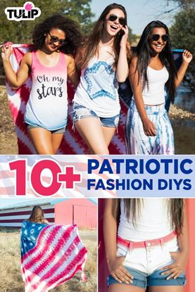 Picture of 10+ Patriotic Tie-Dye DIYs