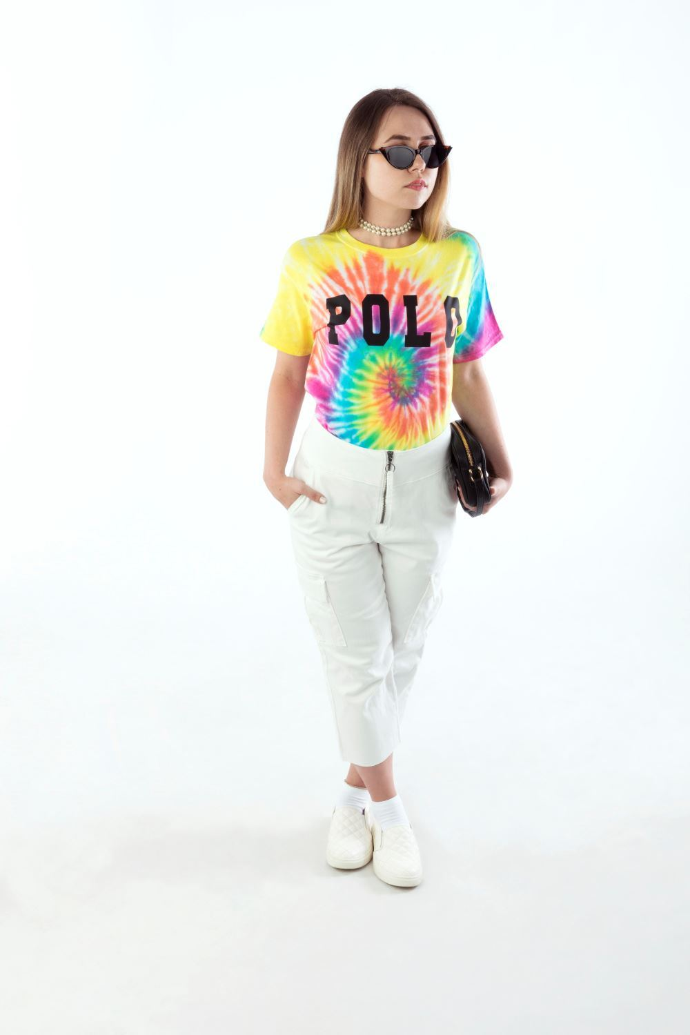 Tulip Spiral POLO-Inspired Tie-Dye T-shirt
