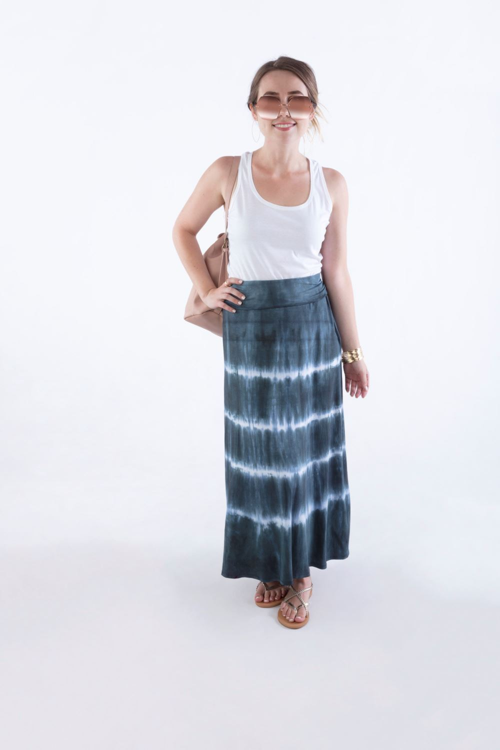 Hilary Duff Inspired Tie Dye Maxi Skirt
