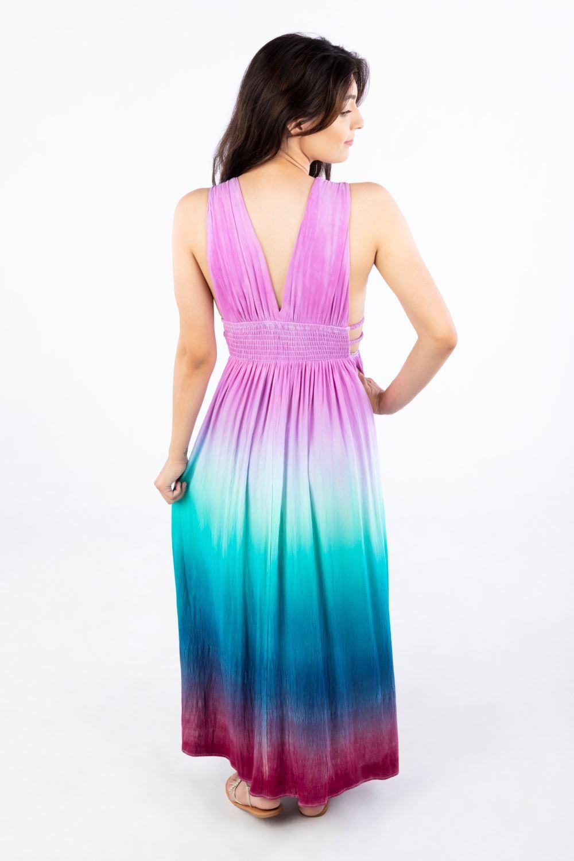 Tulip Ombre Tie Dye Maxi Dress
