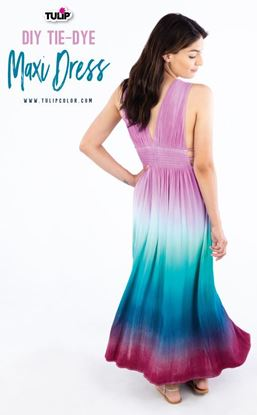 Picture of DIY Tie Dye Maxi Dress
