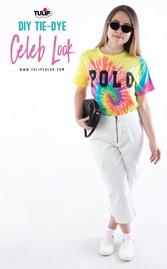 Tulip Gigi Hadid POLO Inspired Tie-Dye T-shirt