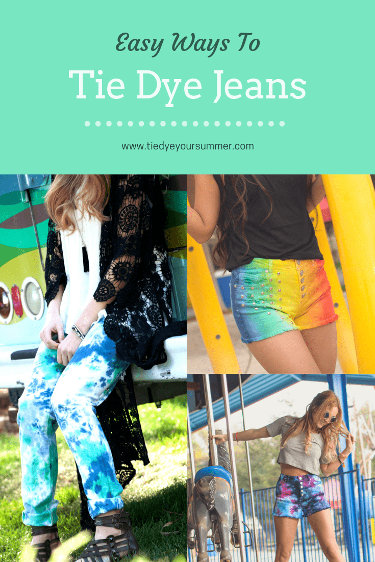 Easy Ways To Tie Dye Jeans with Tulip Tie Dye