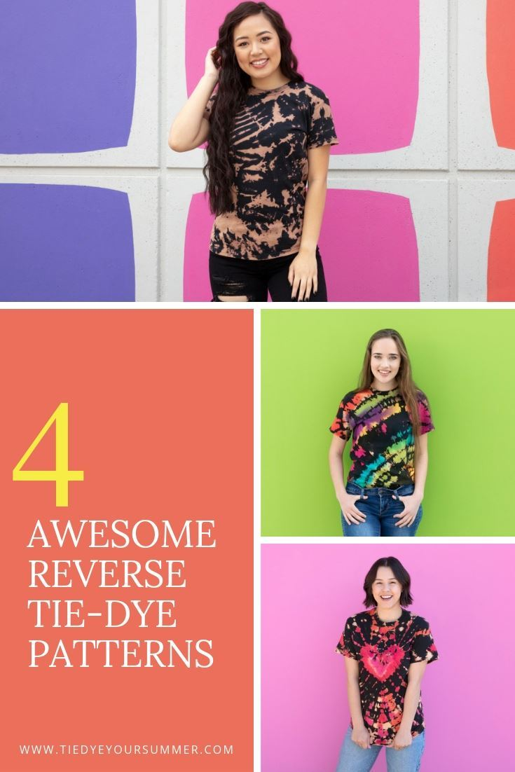 4 Awesome Reverse Tie Dye Patterns