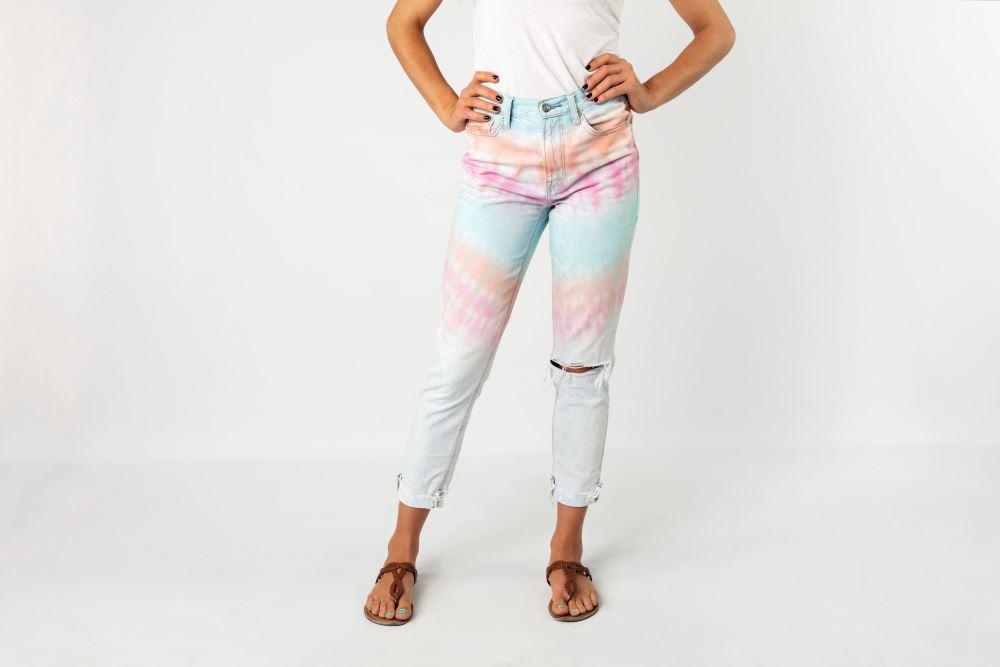 Tulip Pastel Tie Dye Jeans