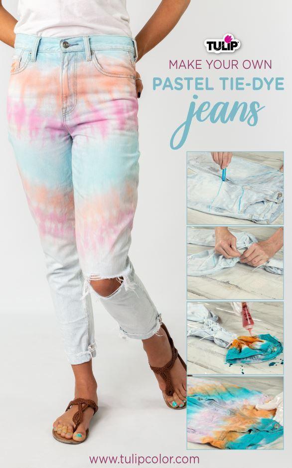 Tulip Pastel Tie-Dye Jeans