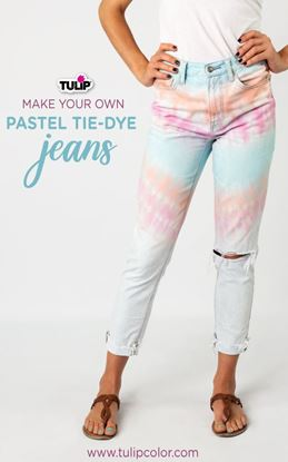 Picture of Make Your Own Pastel Tie-Dye Jeans