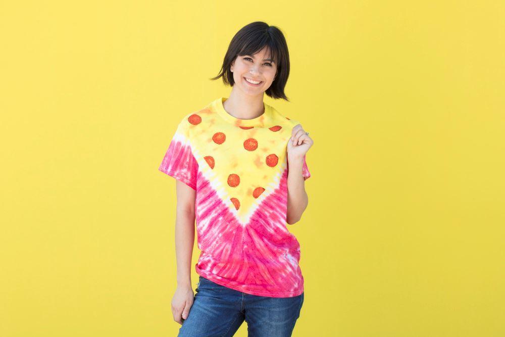 Tulip Tie-Dye Pizza T-shirt