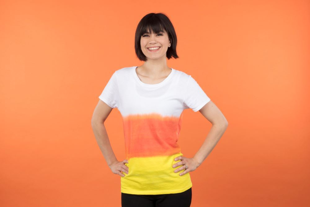 Tulip Candy Corn Tie-Dye T-shirt