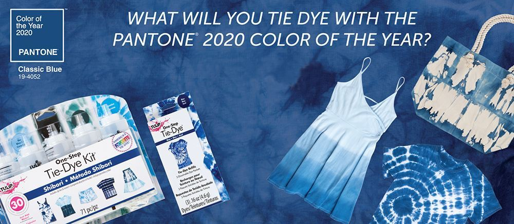 Tulip Pantone Classic Blue Tie Dye