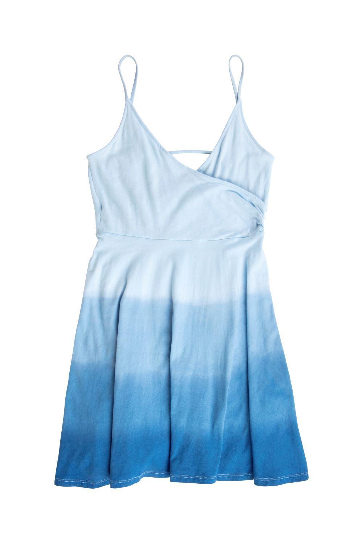 Classic Blue Ombre Tie-Dye Dress